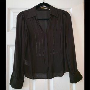 Beautiful black silk chiffon blouse